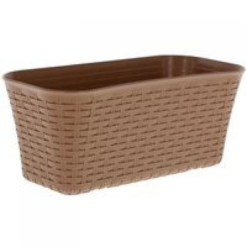 Ящик балконный Ротанг 400 см /коричневый/